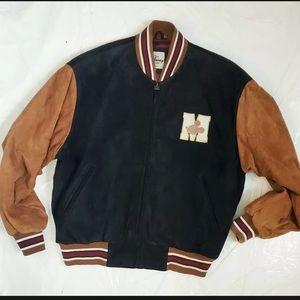Vintage Disney Mickey 1928 Suede Varsity Jacket